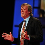 "Stephen Fry at TEDGlobal 2009, Session 1: ""What we know,"" July 21, 2009, in Oxford, UK."