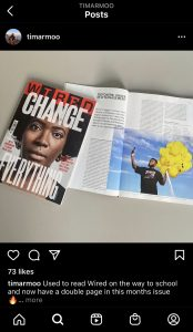 Timothy Armoo featured in Wired