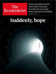 The Economist - Suddenly Hope front cover - Natasha Loder vaccine story